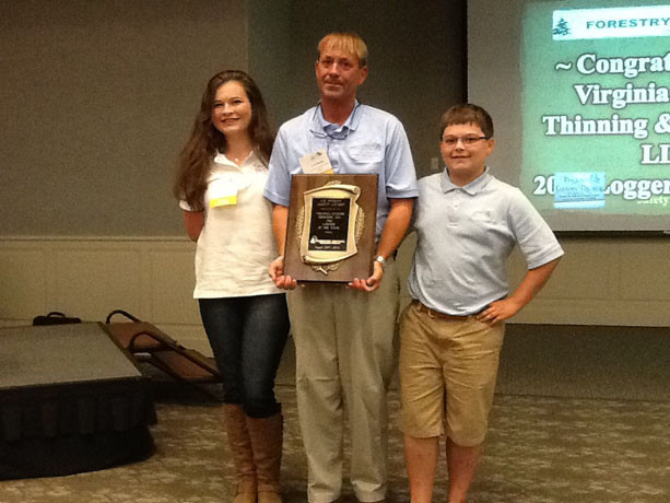 C. K. Greene Accepts 2015 Forestry Mutual Logger of the Year Award