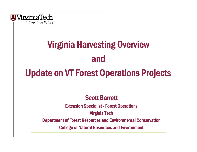 2017 VLA Meeting Presentation – Virginia Loggers Association