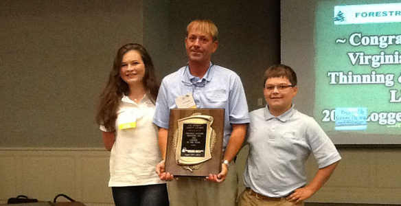 C. K. Greene named Logger of the Year by Forestry Mutual